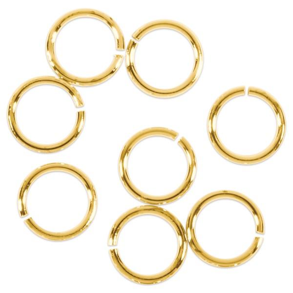 Spaltring/Zwischenring Metall 5mm 30 St. goldf. einfach, offen