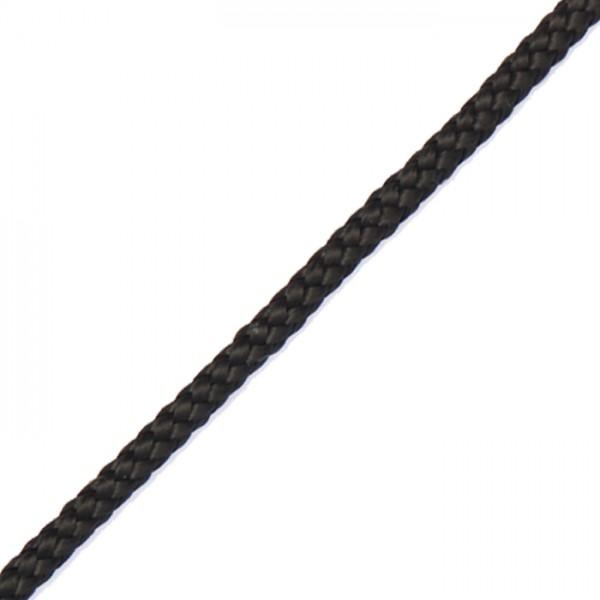 Paracord-Garn rund 3mm 100m schwarz Makramee-Knüpfgarn, Polypropylen