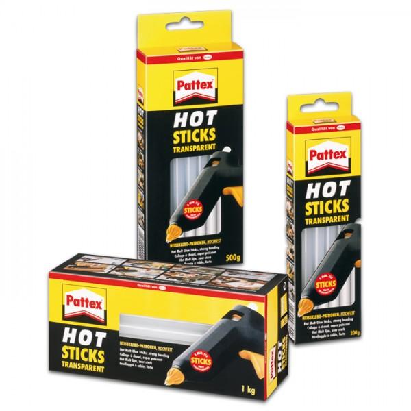 Pattex Hot Sticks Ø11mm 20cm 500g 25 St. transp. passend für Art.-Nr. 52500006 & 52500012