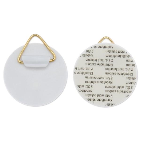 Wandhalter Ø 40mm 4 St. weiß/goldfarben Kunststoff/Metall, selbstklebend