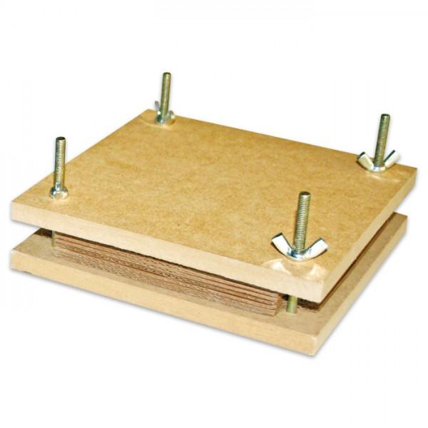 Blumenpresse 14,5x14,5x4cm aus Holz/Metall/Pappe, ab 3 Jahren