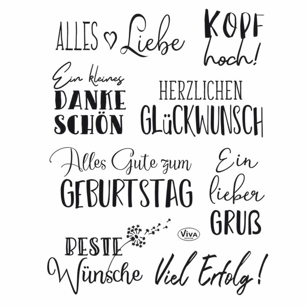 Clear Stamps Silikonstempel 14x18cm Alles Liebe