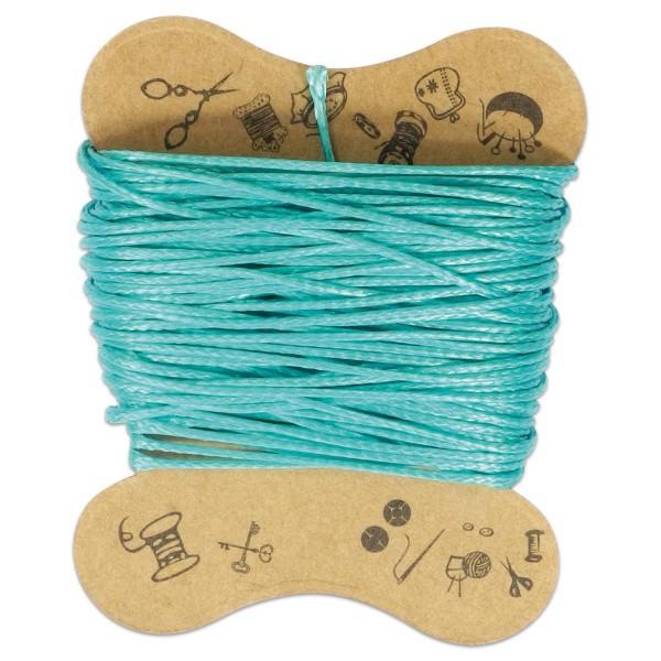 Kordel gewachst 0,5mm 10m türkis 90 % Polyesterfaser/10 % Baumwolle