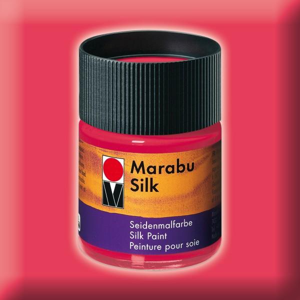 Marabu Silk 50ml kirschrot Seidenmalfarbe