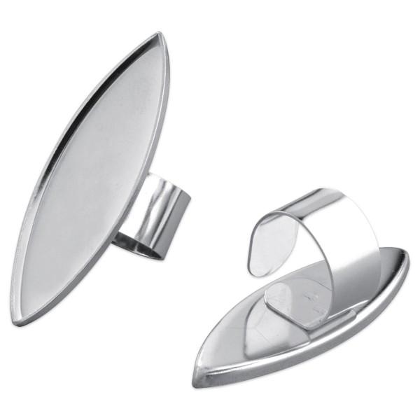 Ring für Modelliermasse ca. 17x52mm spitzoval silberfarben Metall