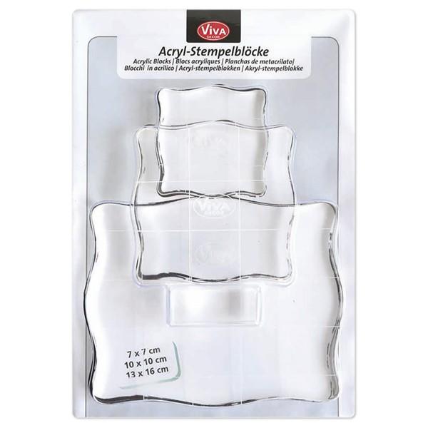 Acryl-Stempelblock 3er-Set 7x7/10x10/13x16cm