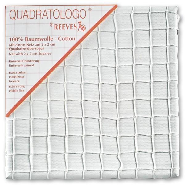 Quadratologo Keilrahmen mit Netz 50x50cm