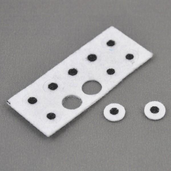 Filz-Augen Ø 10mm 10 St. schwarz/weiß 100% Polyester