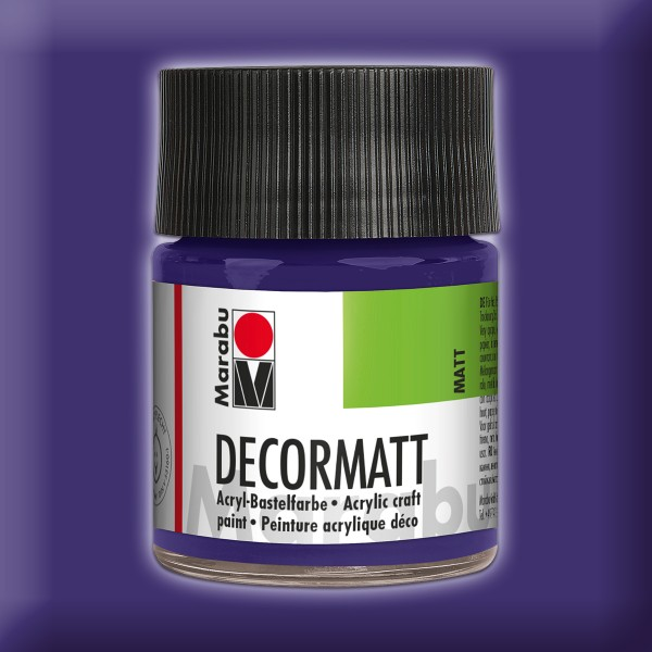 Decorlack Acryl matt 50ml violett dkl.