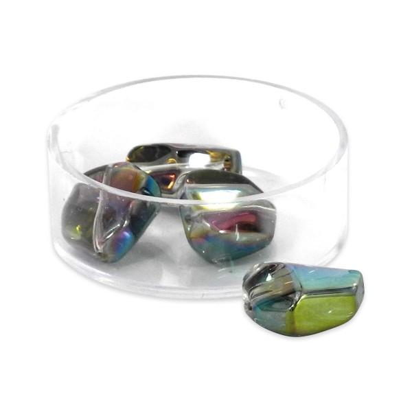 Glasschliffperlen ca. 16x13mm 10 St. kristall vitrail AB Regenbogeneffekt, Lochgr. ca. 1mm