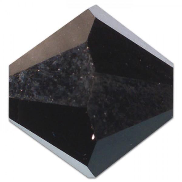 Glasschliffperlen 4mm 25 St. schwarz jet Swarovski, Lochgr. ca. 0,9mm