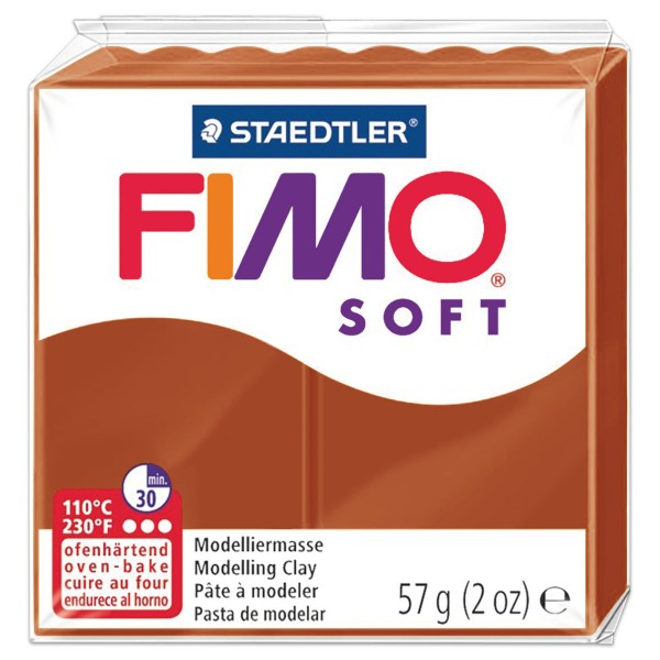 FIMO soft 55x55x15mm 57g cognac ofenhärtende Modelliermasse