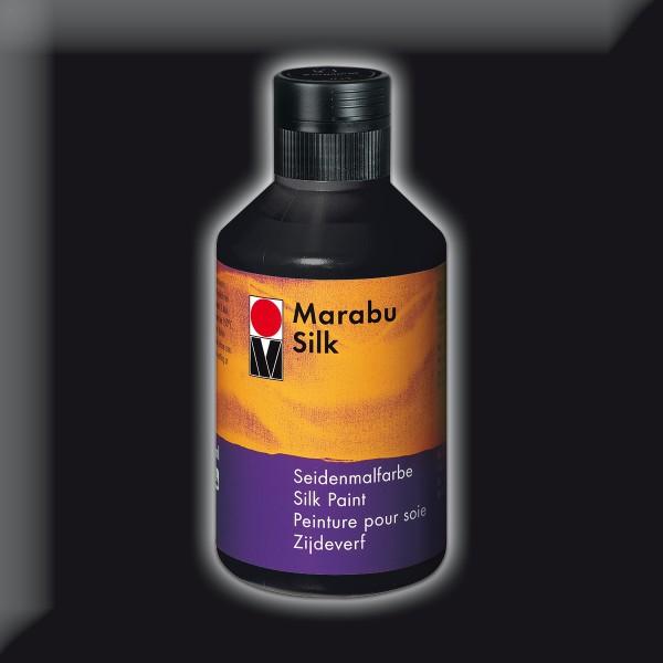 Marabu Silk 250ml schwarz Seidenmalfarbe