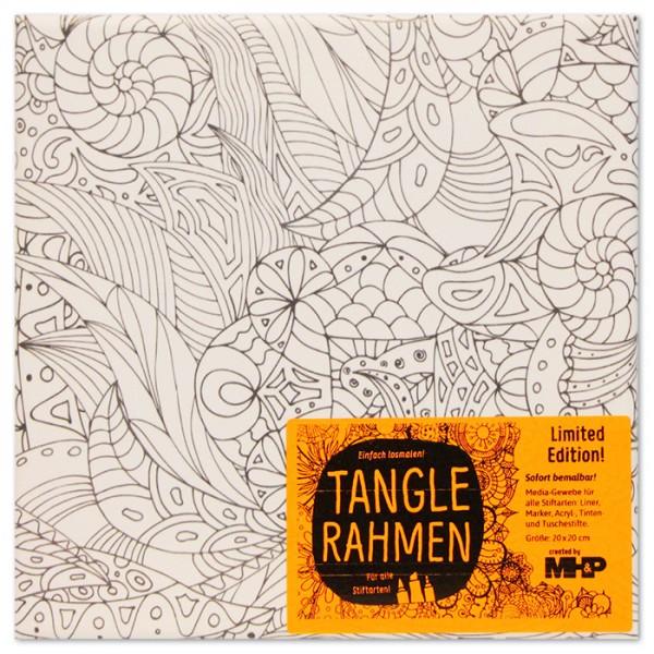 Tangle-Keilrahmen 20x20x2cm tropisches Blattwerk