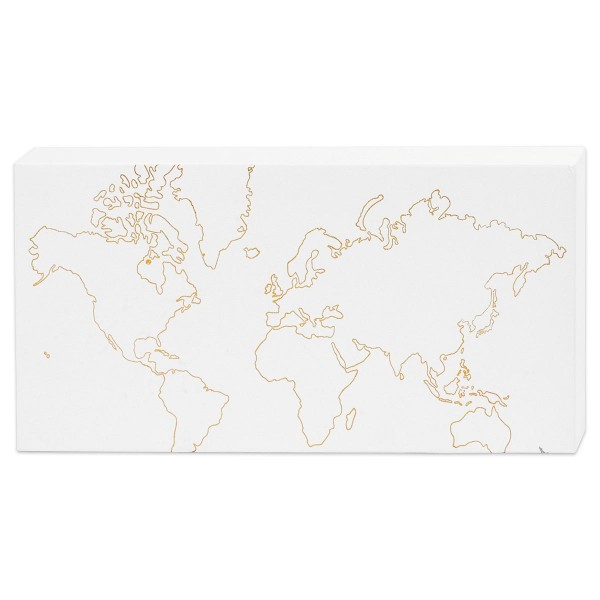 Keilrahmen für Aquarellfarbe 25,4x12,7cm bedruckt mit Goldfolienmotiven