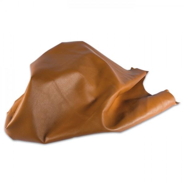 Lammnappa Leder ca. 1mm stark 1 Haut cognac 1 Haut entspricht mind. 0,5m²