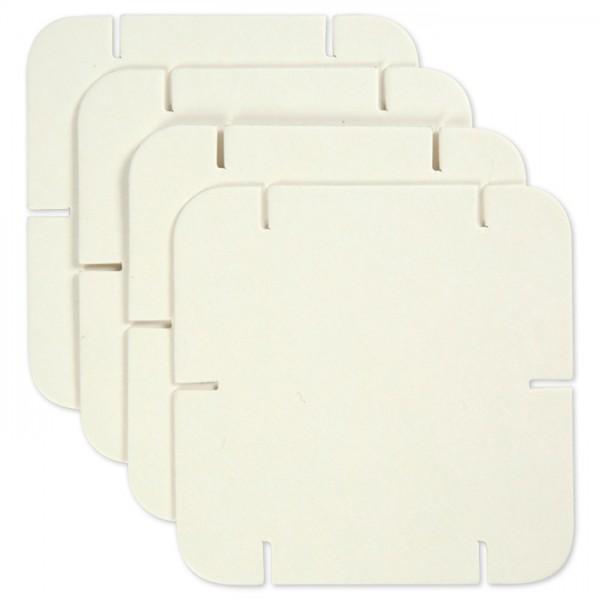 Puzzle-Teile Karton 1,2mm 9,3x9,3cm 20 St. weiß