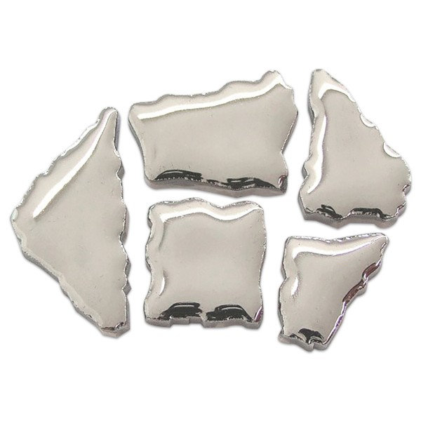 Flip-Keramik 2-6cm 3kg ca. 260 Steine deluxe silberfarben ca. 6,5mm
