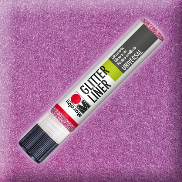 Marabu Glitter Liner 25ml rosa universelle Effektfarbe