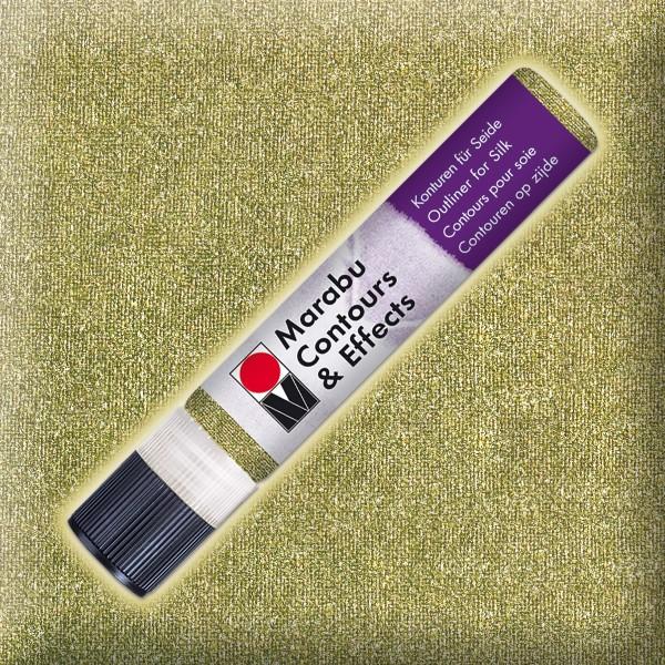 Contours & Effects 25ml glitter-peridot Konturenfarbe für Seide