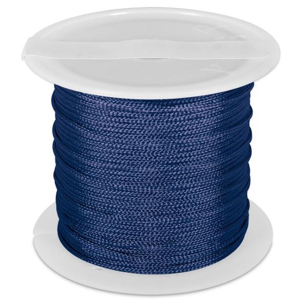 Knüpfgarn glänzend 1mm 5m marine 100% Polyester