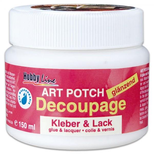 Decoupage Kleber & Lack glänzend 250ml