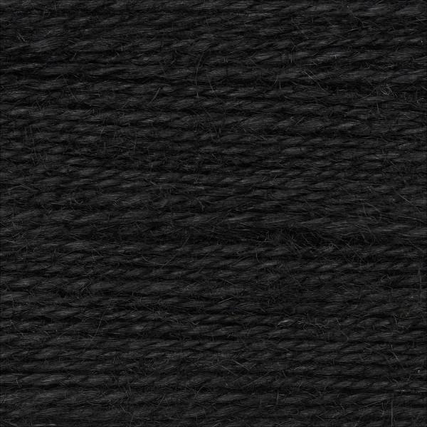 Creative Nature 50g ca. 100m schwarz Nadel Stricken Nr. 3,5, 100% Hanf