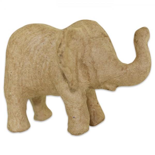 Elefant Pappmaché 10x8x7cm Größe XS, von Décopatch