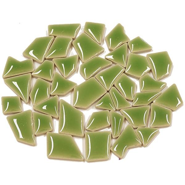 Flip-Keramik Mini 200g ca. 160 Steine schilfgrün 5-20mm, ca. 4mm