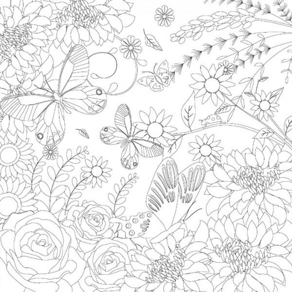 bedruckter Keilrahmen 30x30x2cm Blumen 2