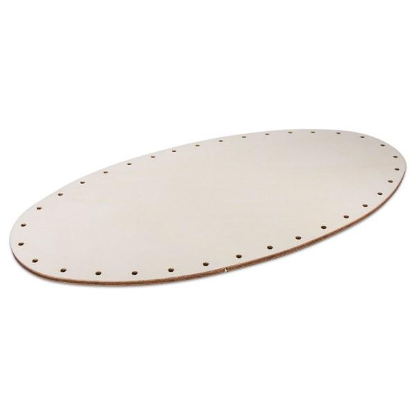 Korbflechtboden Holz 4mm 30,5x15,5cm oval natur 35 Bohrungen 3mm