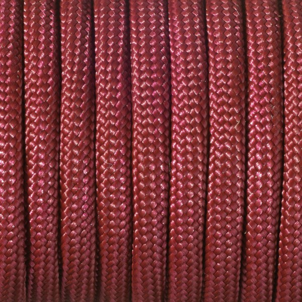 Paracord-Garn rund 4mm 50m dunkelrot Makramee-Knüpfgarn, 60% Polypropylen, 40% Polyester