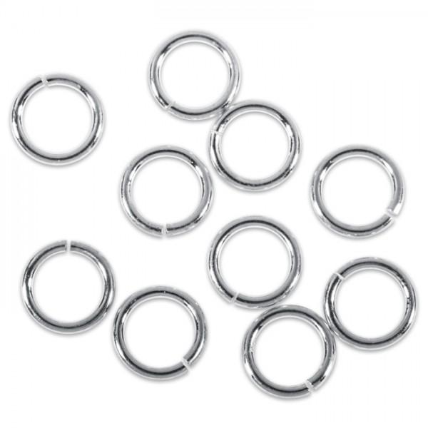 Spaltring/Zwischenring Metall 10mm 20 St. platinf. einfach, offen
