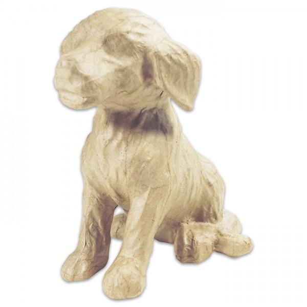 Hund Pappmaché 15x13x18cm Größe S, von Décopatch