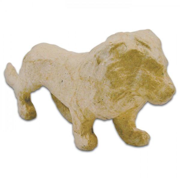 Löwe Pappmaché 4,5x15x7cm Größe XS, von Décopatch