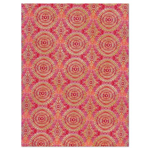 Decoupagepapier Ornament rot/goldfarben von Décopatch, 30x40cm, 20g/m²