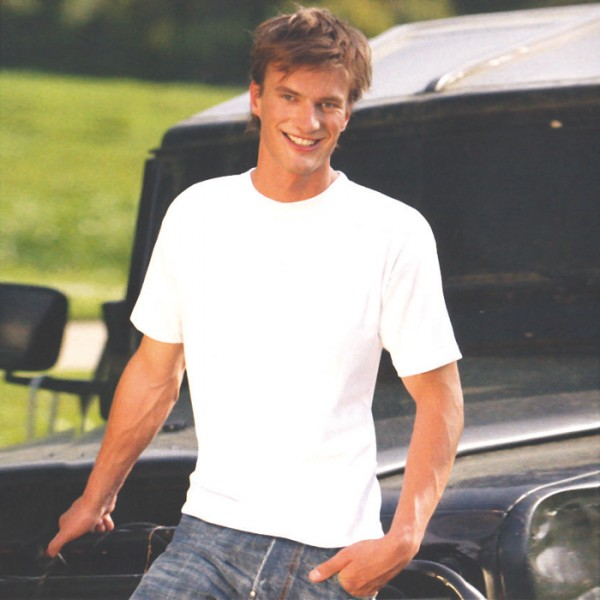Classic T-Shirt weiß Größe M 100% Baumwolle