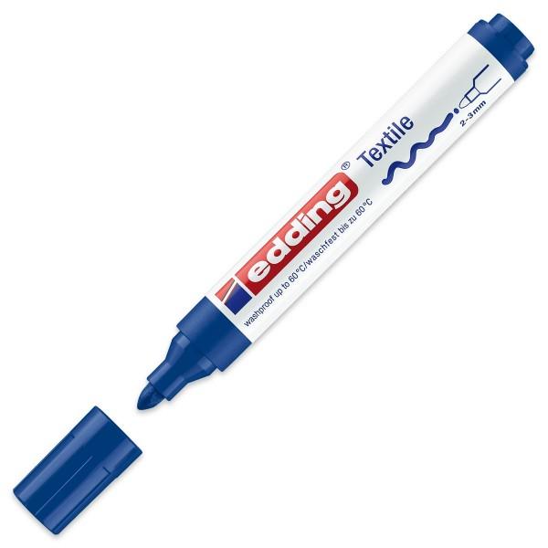 edding 4500 Textilstift blau Strichbreite 2-3mm