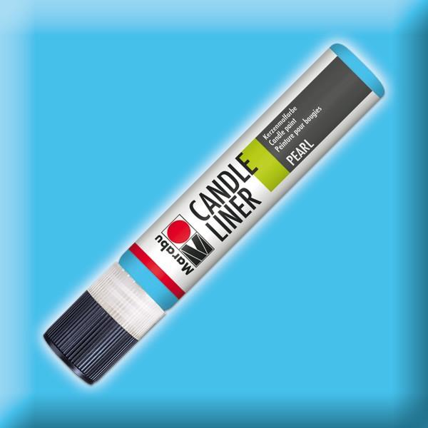 Candle Liner 25ml Kerzenmalfarbe hellblau Wasserbasis