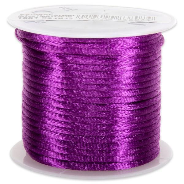 Seidenschnur glänzend 2mm 5m lila 100% Polyester