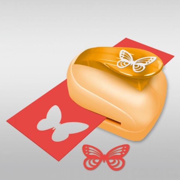 Silhouetten-Locher groß ca.35x45mm Schmetterling Kunststoff/Metall, für Papiere 160-200g/m²