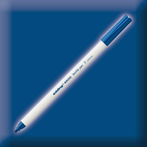 edding 4600 Textilstift blau Strichbreite 1mm