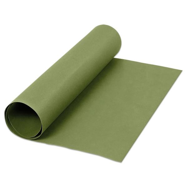 Kunstleder-Papier 0,55mm 50x100cm grün Cellulose-Latex-Mischung