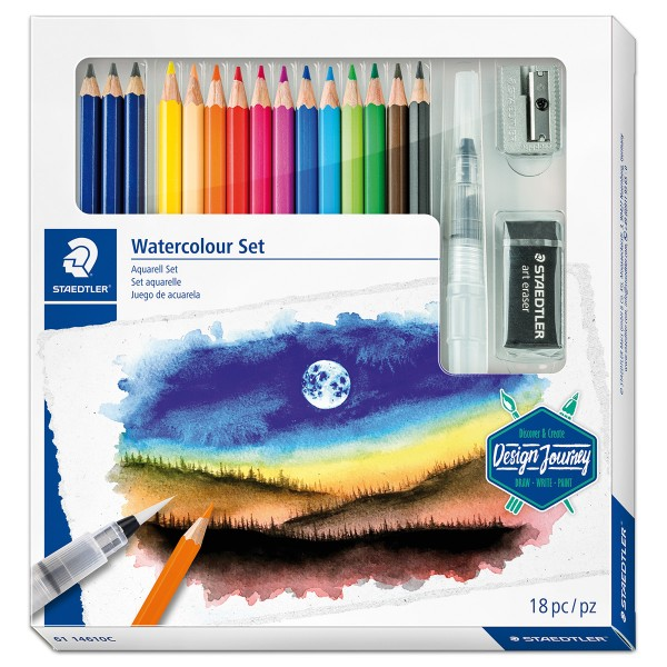 Watercolour Aquarell-Farbstifte-Set 18-teilig