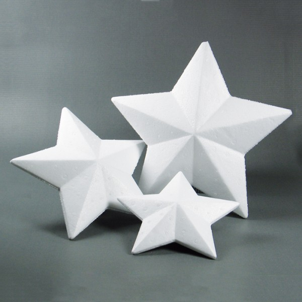 Styropor-Stern weiß Ø 15cm