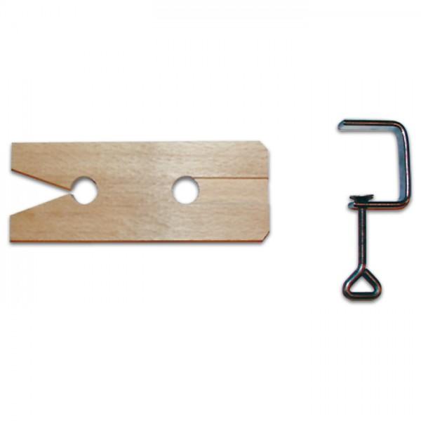 Laubsägetisch 210x65x10mm mit Zwinge Holz/Metall