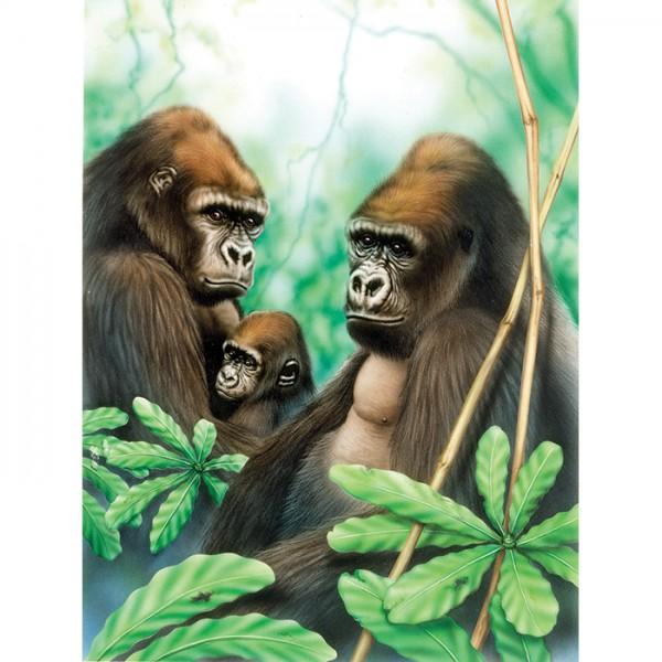 Malen nach Zahlen 22,2x29,8cm Gorillas