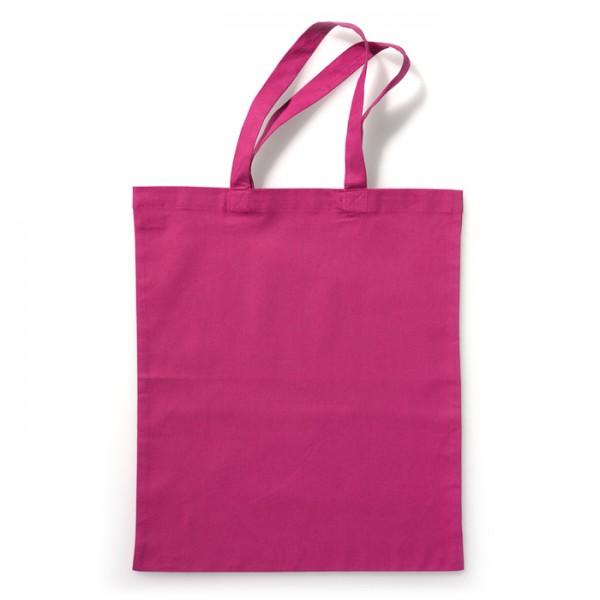 Tragetasche 38x42cm pink 100% Baumwolle, Bio-Qualität
