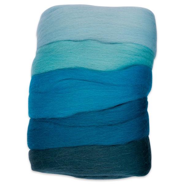 Kammzugwolle Merino 50g aquaton 100% Wolle vom südamerikanischen Merinoschaf