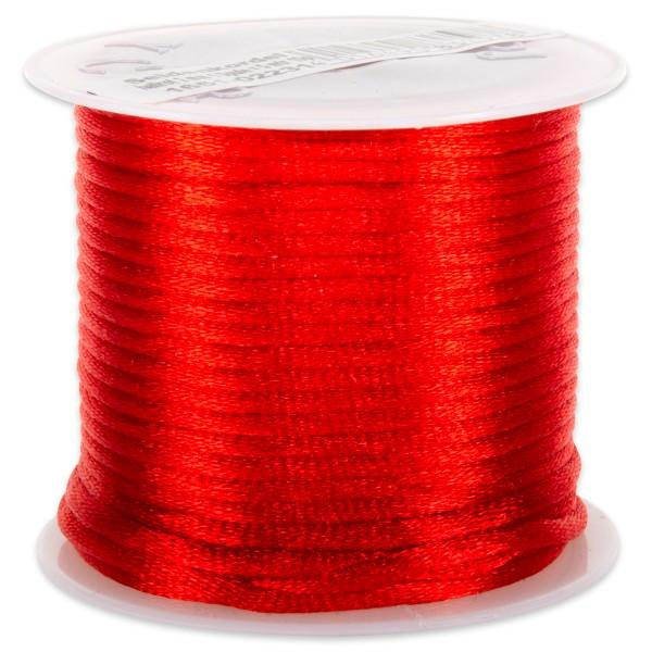 Seidenschnur glänzend 2mm 5m hellrot 100% Polyester